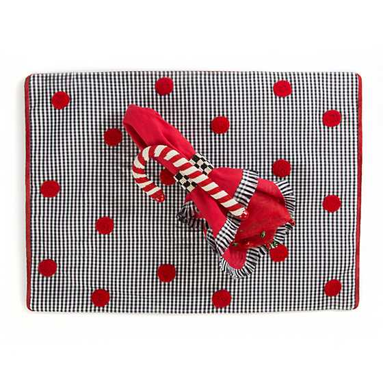 Gingham Trim Napkin - Red image three