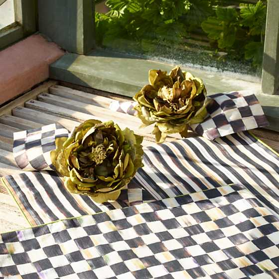 Courtly Check Cotton Napkin image two