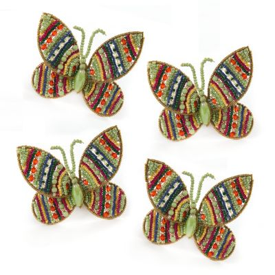 Butterfly Napkin Rings - Jewel - Set of 4