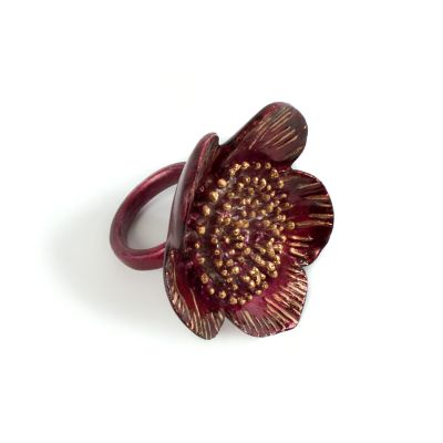 Autumn Rose Napkin Ring