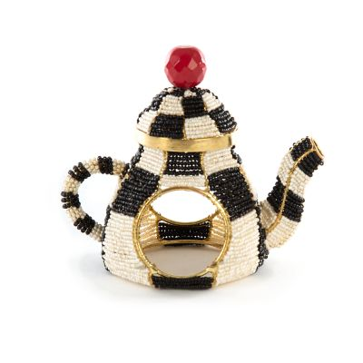 Tea Kettle Napkin Ring - Courtly Check