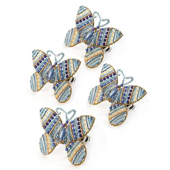 Royal Butterfly Napkin Rings - Set of 4