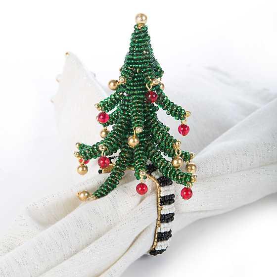 Christmas Tree Napkin Rings.Mackenzie Childs Pine Tree Napkin Ring