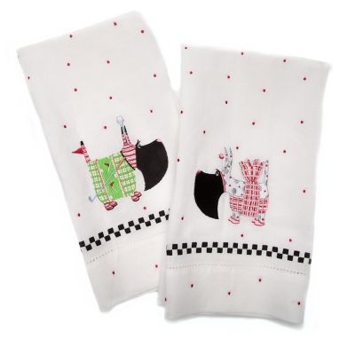 Patience Brewster Scottie Tea Towels - Set of 2