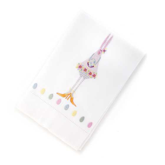 Patience Brewster Bunny Tea Towel - Purple image two