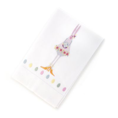Image for Patience Brewster Bunny Tea Towel - Purple