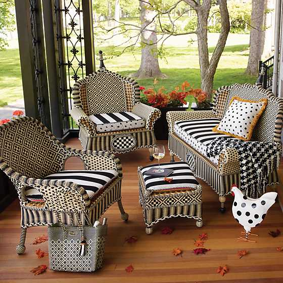 Courtyard Outdoor Wing Chair Cushion - Bathing Hut image two
