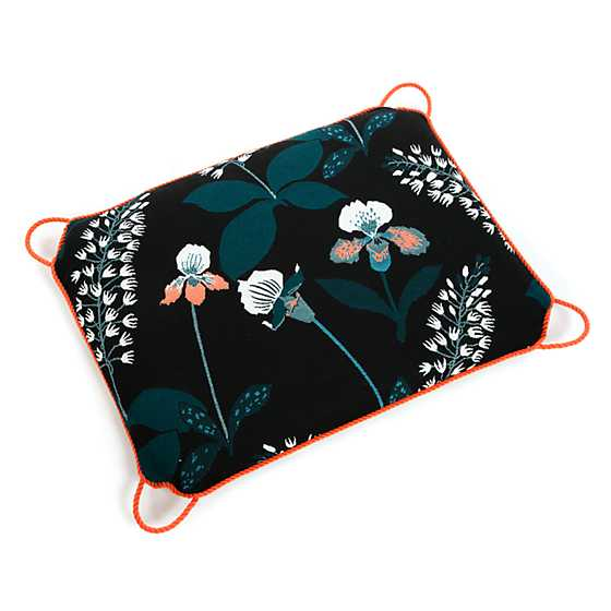 Courtyard Outdoor Ottoman Cushion - Wood Iris image two