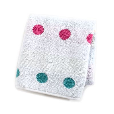 Trampoline Dot Washcloth - White