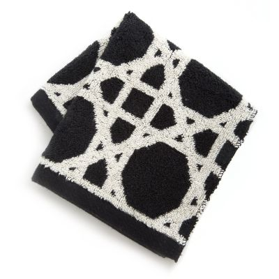 Trellis Washcloth - Black