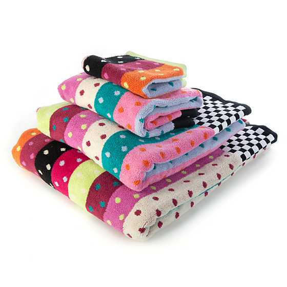 Ribbon & Dot Bath Towel image three