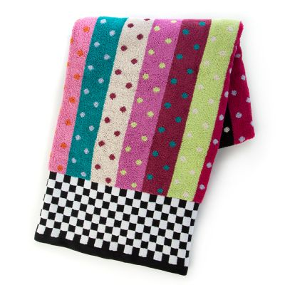 Ribbon & Dot Bath Towel