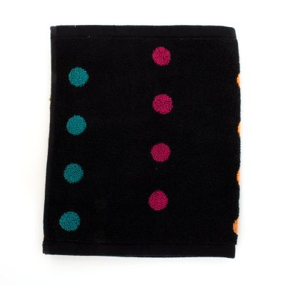 Trampoline Dot Washcloth - Black