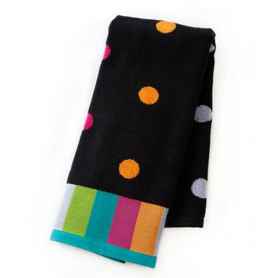 Trampoline Dot Hand Towel - Black