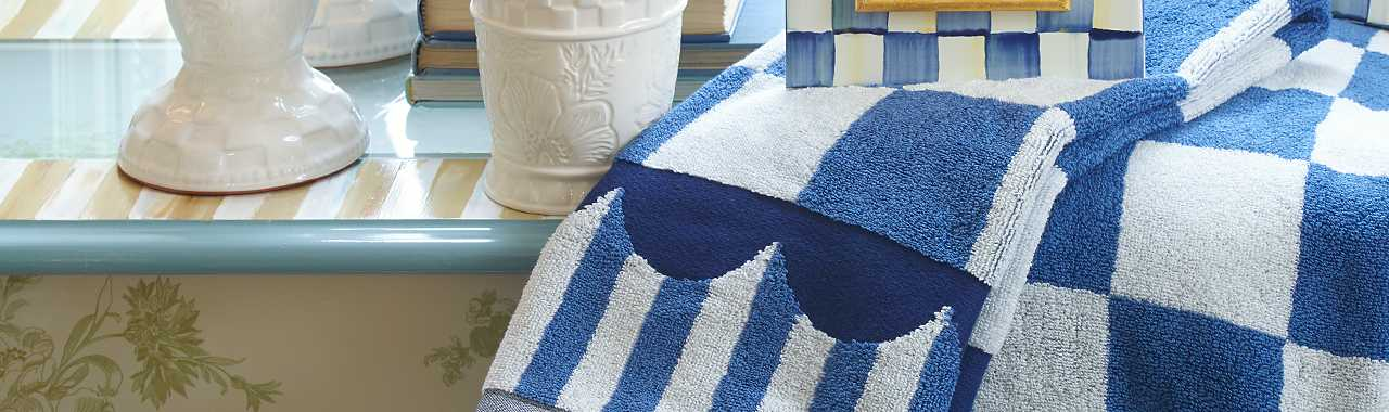 Royal Check Bath Towel Banner Image