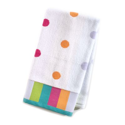 Trampoline Dot Hand Towel - White