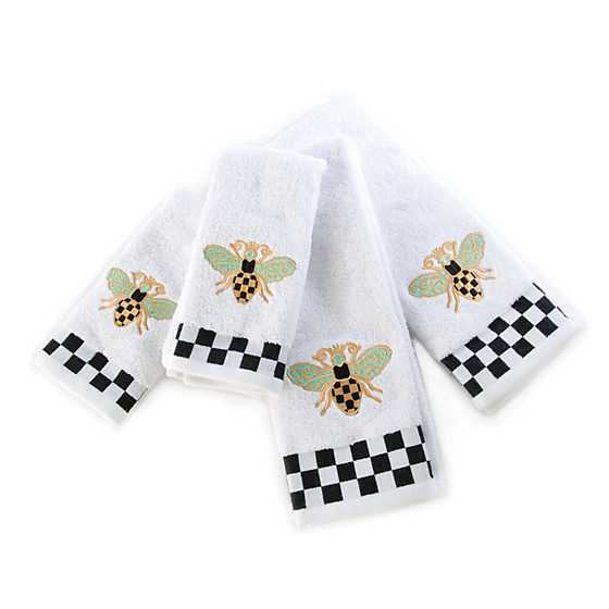 Queen Bee Fingertip Towels - Set of 2 image three