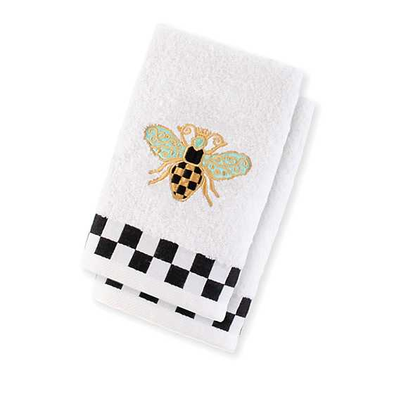 Queen Bee Fingertip Towels - Set of 2