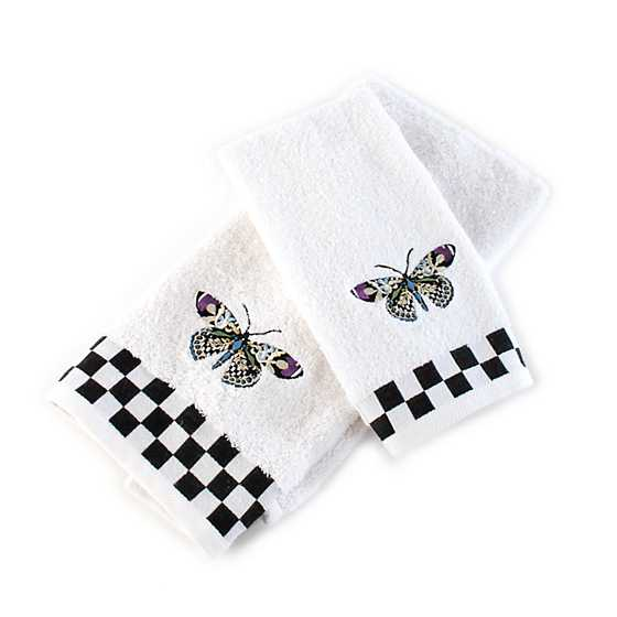 Butterfly Fingertip Towels - Set of 2 image three