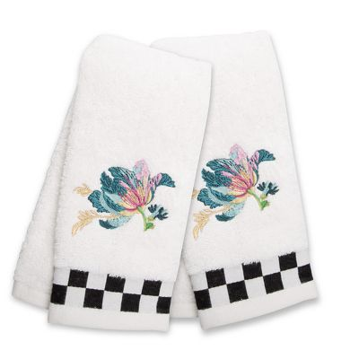 Parrot Tulip Fingertip Towels - Set of 2