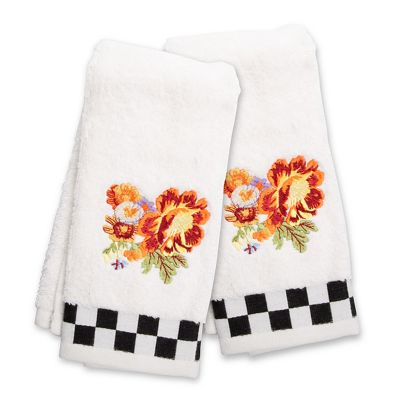 Peony Fingertip Towels - Set of 2