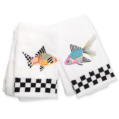 Image for Fantasia Fish Fingertip Towels - Set of 2