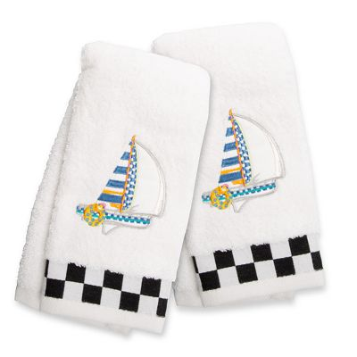 Image for Sail Away Fingertip Towels - Set of 2