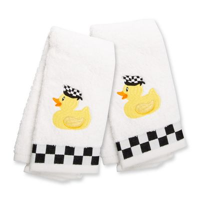 Image for Rubber Ducky Fingertip Towels - Set of 2