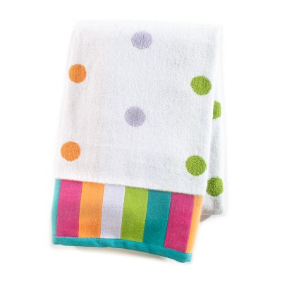Trampoline Dot Bath Towel - White