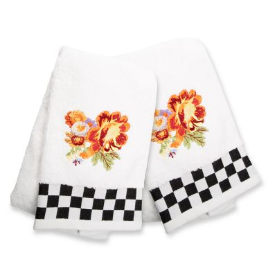 Peony Hand Towels - Set of 2
