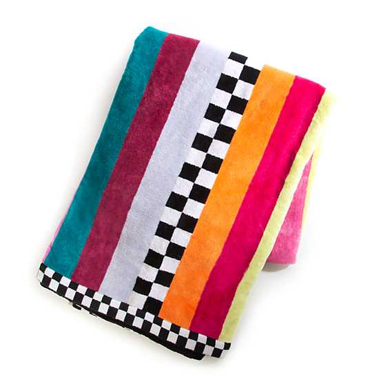 Ribbon & Dot Beach Towel image two