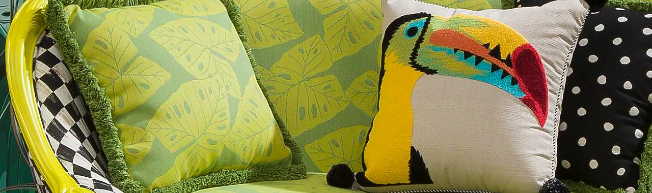 Toucan Outdoor Accent Pillow Banner Image