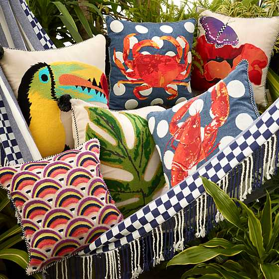Crab Outdoor Accent Pillow image two