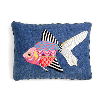 Image for Fantasia Fish Outdoor Accent Pillow - Fuchsia