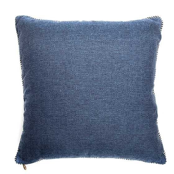 Geo Flower Outdoor Accent Pillow - Navy image three