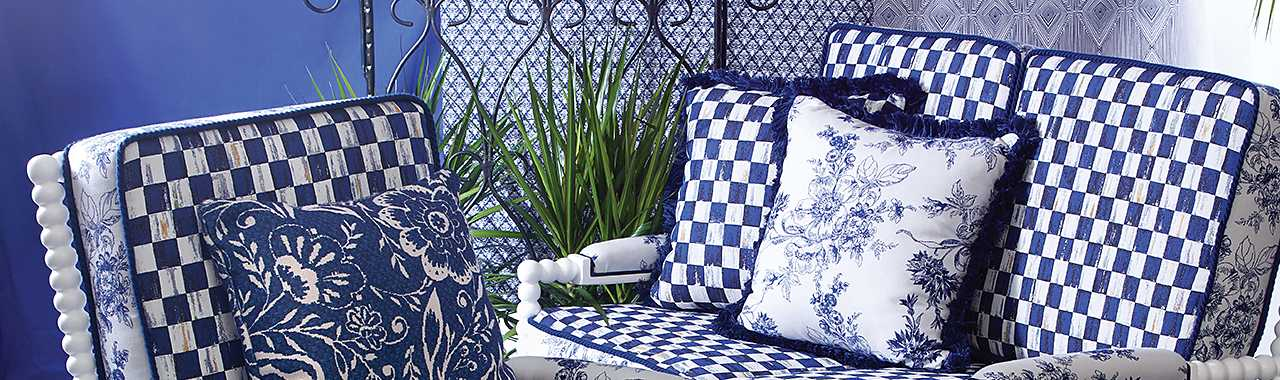 Indigo Villa Outdoor Accent Pillow Banner Image