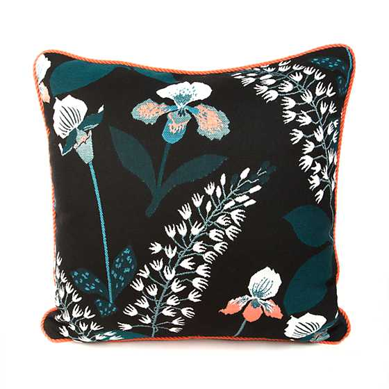 Wood Iris Outdoor Accent Pillow image one