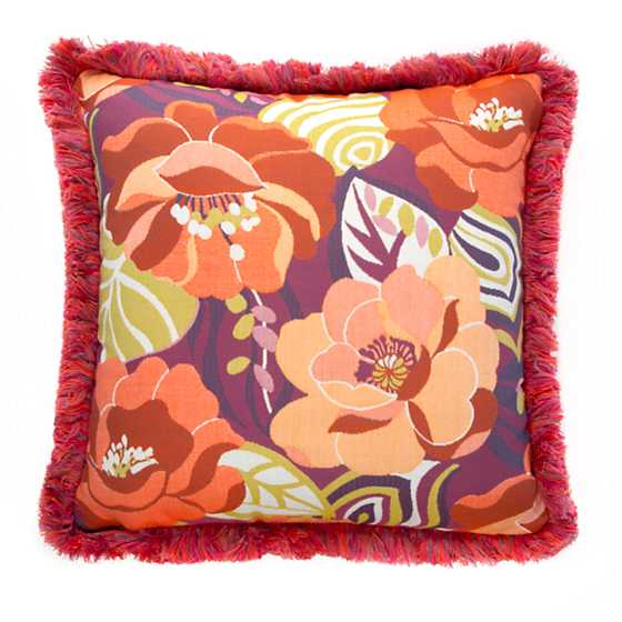 Breezy Poppy Outdoor Accent Pillow