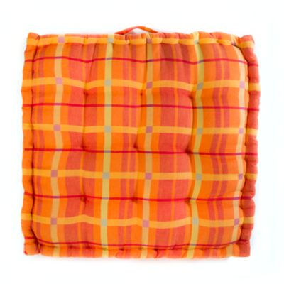 Boheme Floor Cushion - Plaid