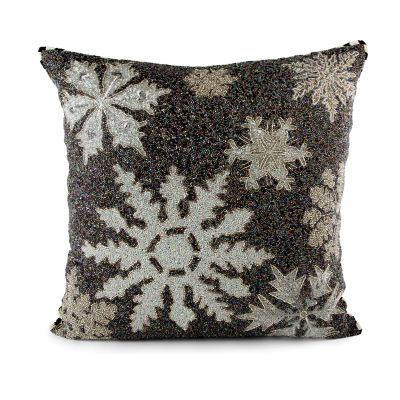 Snowflake Beaded Pillow