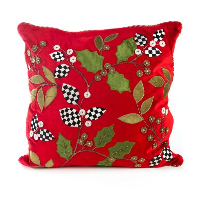 Trailing Holly Pillow