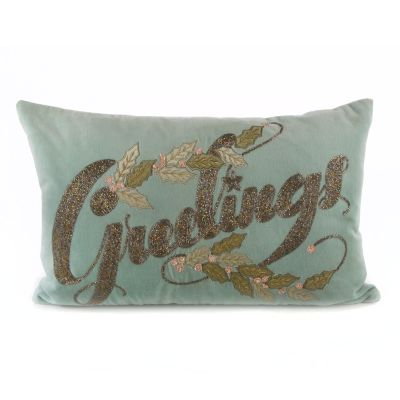 Home Sweet Snow Greetings Lumbar Pillow
