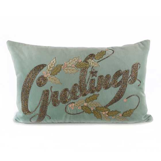 Home Sweet Snow Greetings Lumbar Pillow image one