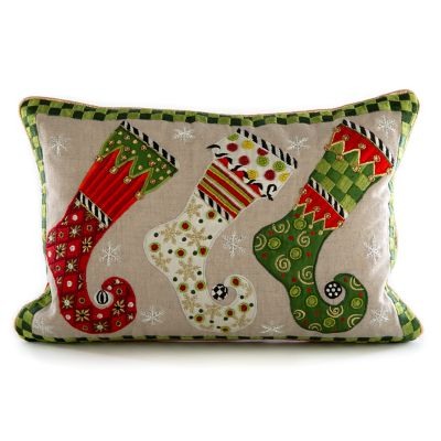 Elf Stockings Lumbar Pillow