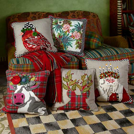 Tartan Stag Pillow image two