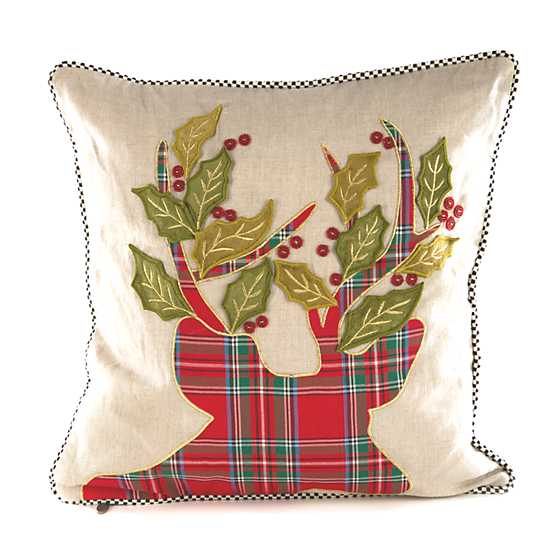 Tartan Stag Pillow image one