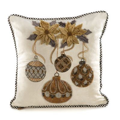 Merriment Ornament Pillow - Ivory