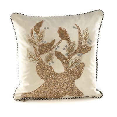 Golden Hour Stag Pillow