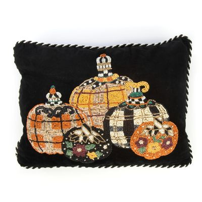 Tartan Spice Pumpkin Patch Lumbar Pillow