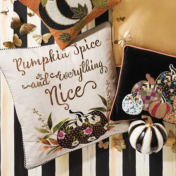 Pumpkin Spice & Everything Nice Pillow image two